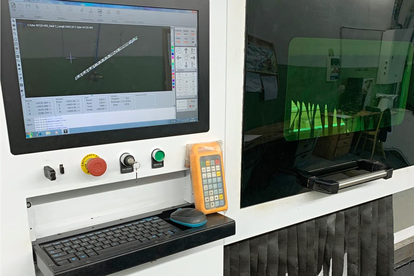 Detail Tube lasera - stroja na laserové rezanie kovových profilov a trubiek | Tubelaser.sk